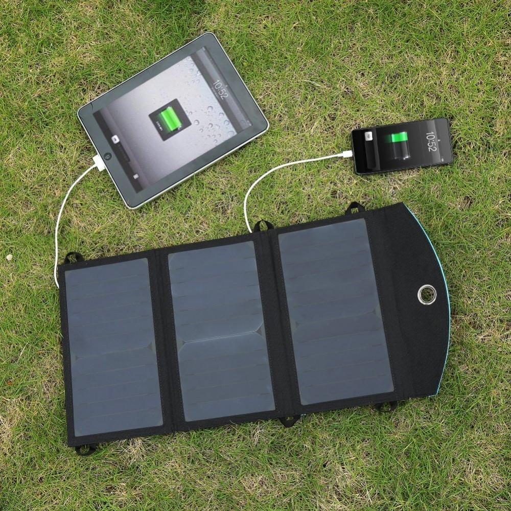 зарядка на солнечной батарее